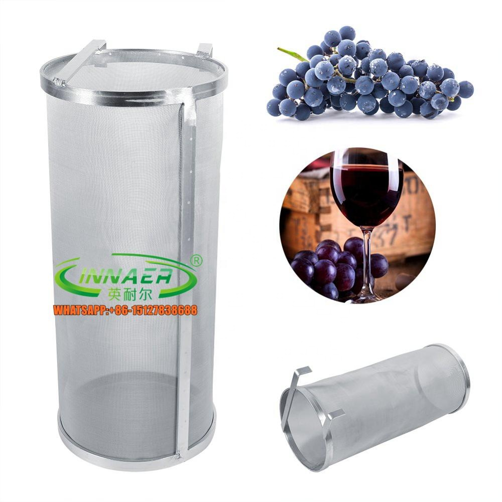Stainless Steel 400 Micron Mesh Hop Spider, 4&quot;<strong>x10</strong>&quot; Hopper Filter Strainer, Dry Beer Filter Basket for Home Beer Brewing
