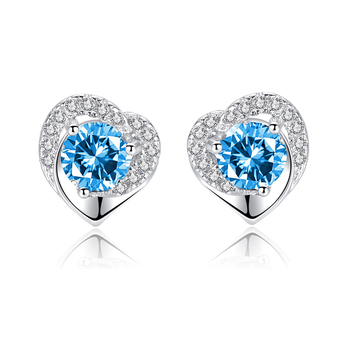 hypoallergenic earrings studs jewelry luxury wholesale statement women 925 sterling silver fashion stud earrings women