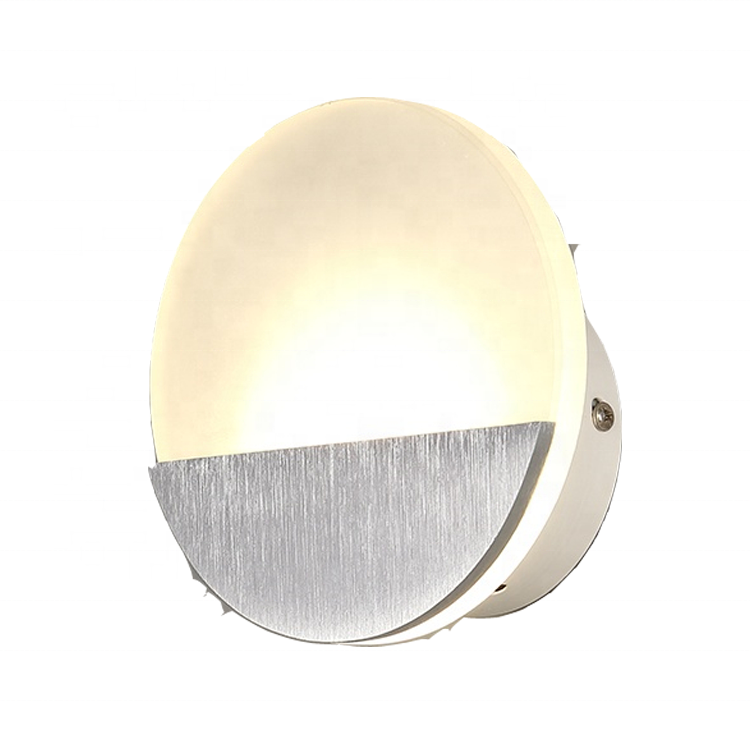 No MOQ hot round shaped fancy modern bedroom compound indoor mirror creative 5w led stair wall <strong>light</strong> fixture