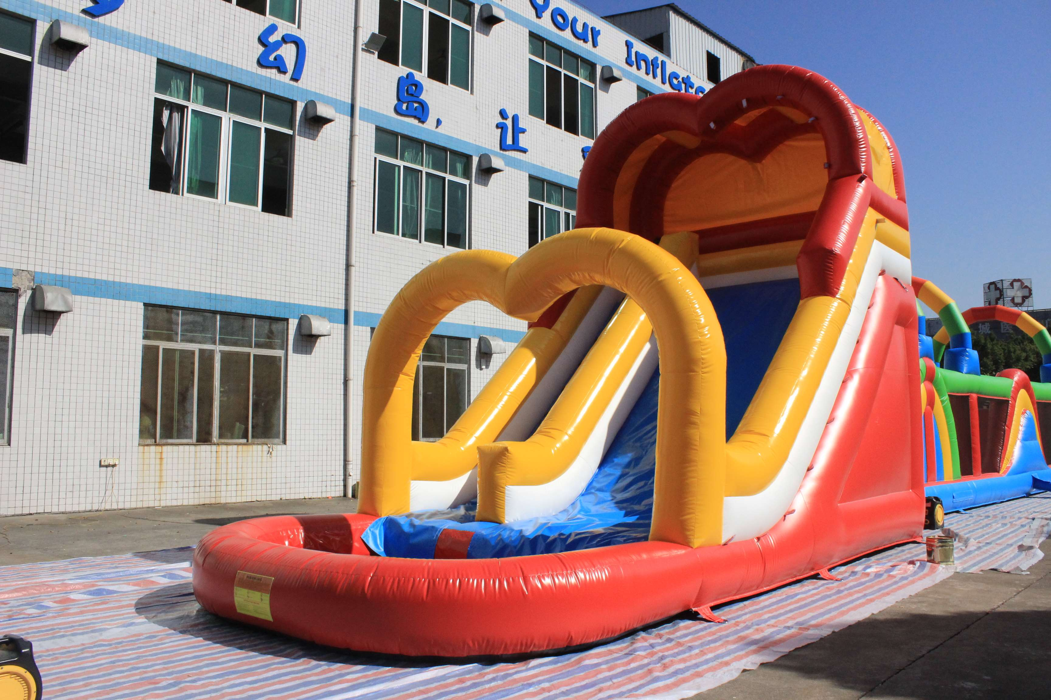 Kids Commercial Giant Adult Inflatable Slide Giant Inflatable Bouncer Slide For Sale