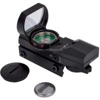 Reflex Sight - Adjustable Reticle (4 styles) Both Red and Green in one sight ON & OFF Switch