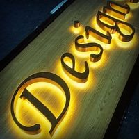Retail store interior logo signs shop indoor brass backlit led watch us how to make lighted signs in good quality
