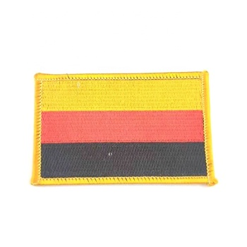 2019 New Custom National Flag Printed Embroidery Patch for Garment