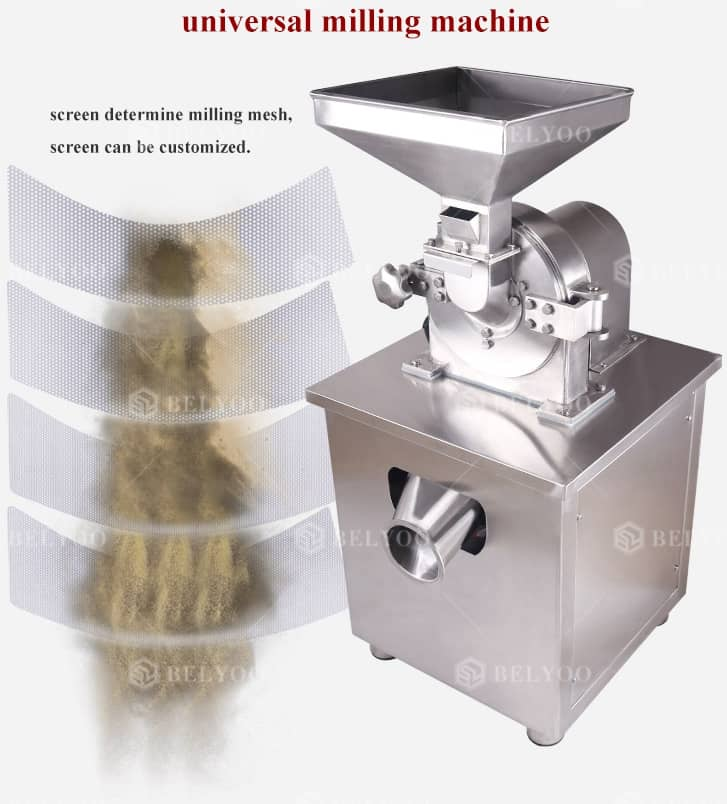 Turmeric cocoa herb powder coconut grinder portable electric tiger nuts grinding spice small scale maize milling machine