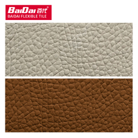 Baidai wall cladding wall tile man made natural powder high quality leather grain coarse cow hide stone series