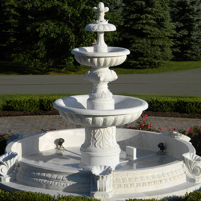 Custom made figures carving Italian home marble water fountain for sale