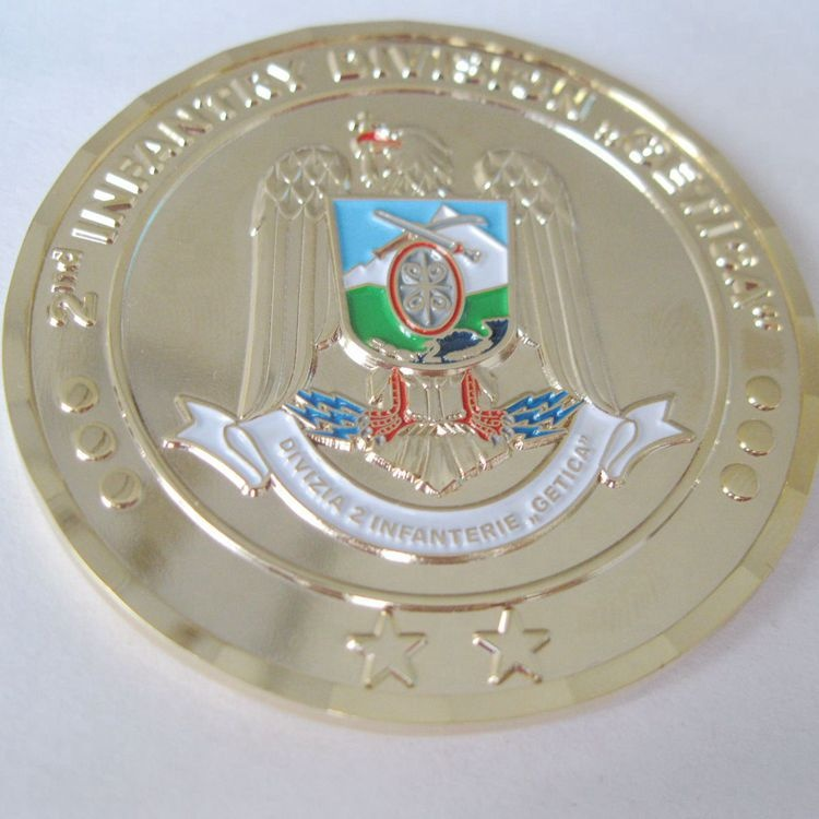 Custom gold challenge Coin Romania eagle