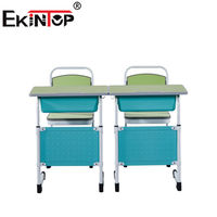 Ekintop modern great japanese 2 seater school teacher office student desk and chairs with writing table