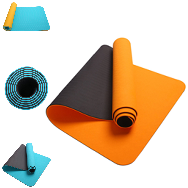 Eco-Friendly Tpe Yoga Mat Soft Thicken Fitness Exercise Gymnastics Mat