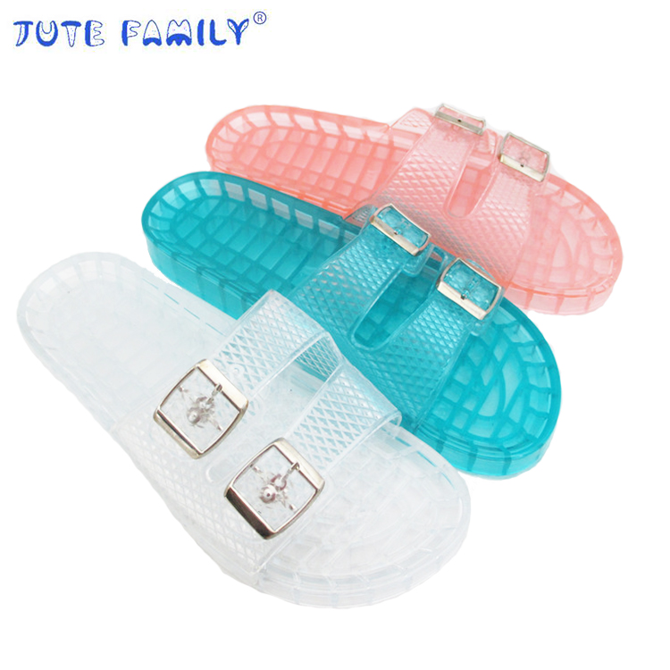 Factory Home trendy Price latest ladies summer flat platform shoes Girl Pvc women lady jelly slide slides <strong>sandals</strong> for women