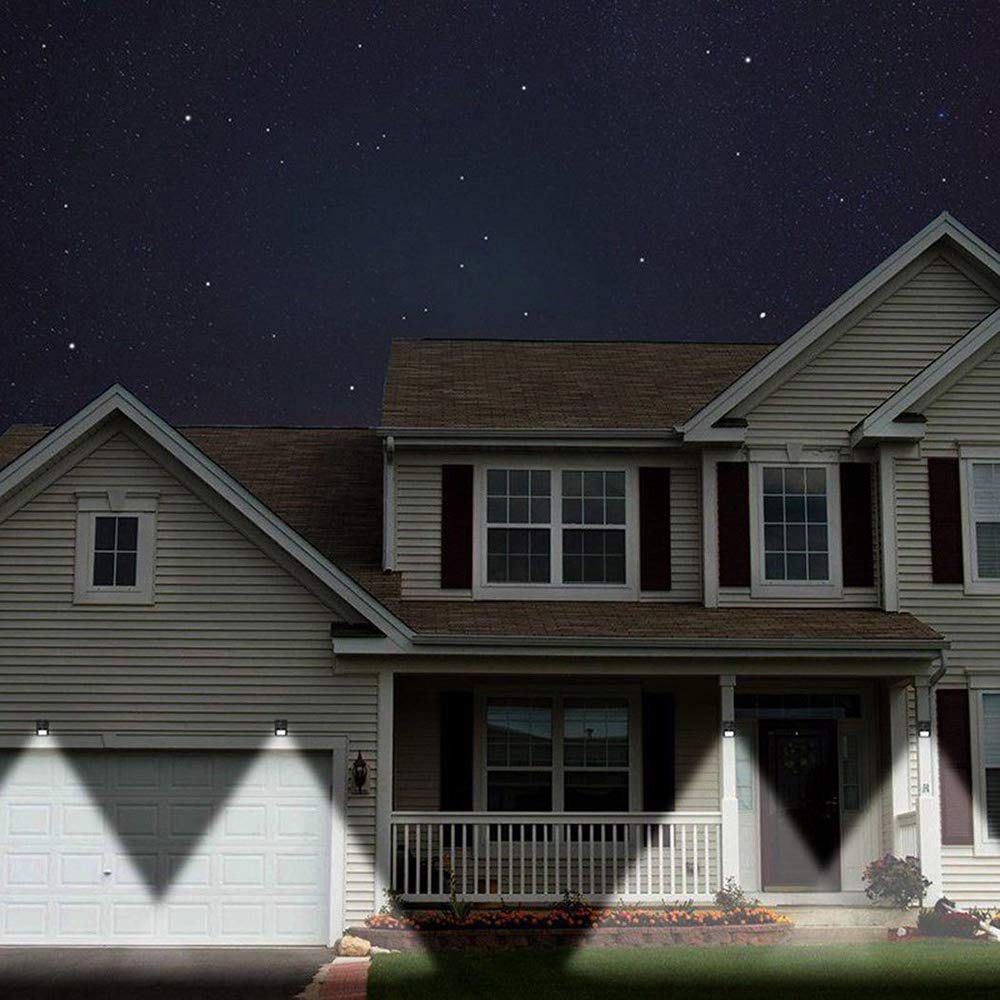 2020 New Upgraded IP65 Waterproof 30 LED Solar Motion Sensor Light Outdoor Wall Lamps