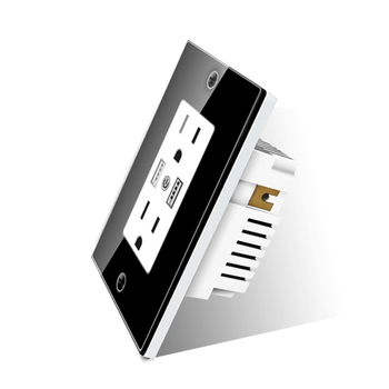 Home Automation App control US standard Smart wall USB Socket 16A socket