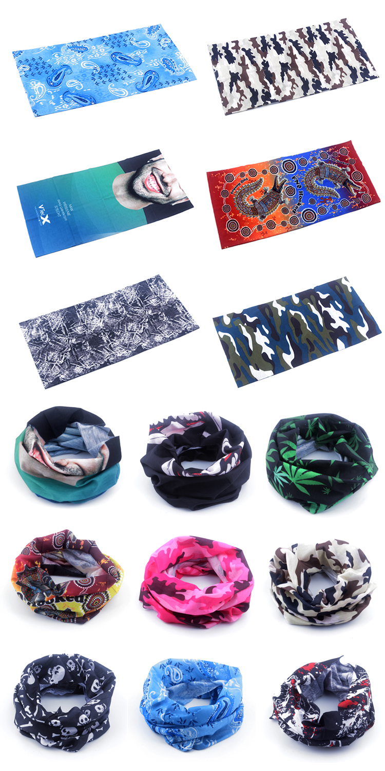Promotional Gifts Custom Printed Tube  Bandana Headwear Cheap Wholesale