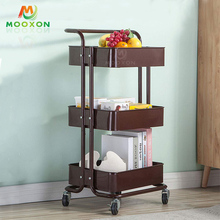 3 Tiers Metal Rolling Storage Serving Shelf Organizer Rack Utility Trolley Cart