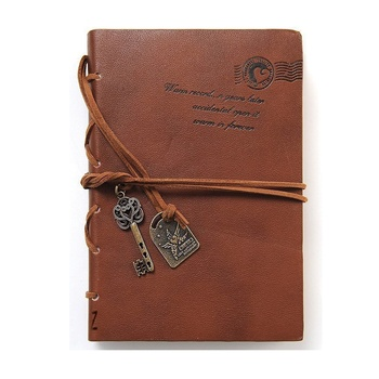 Handmade Sewing Genuine Leather Travel Notebook for Men & Women