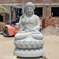 Hand Carved Natural Granite Stone Buddha