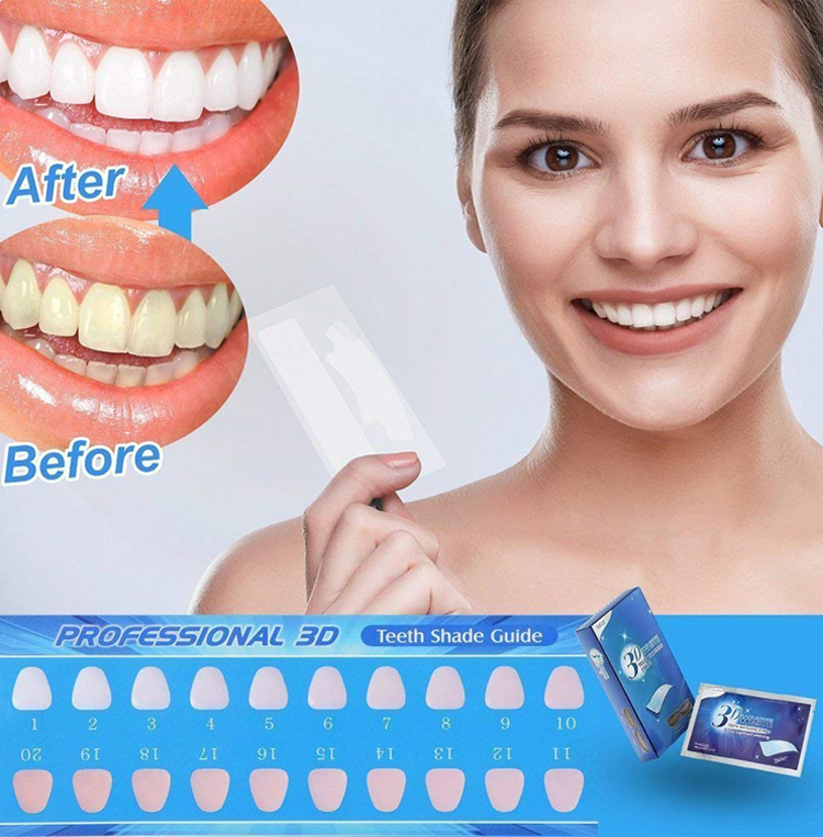 OEM private label snow tooth whitening strips charcoal teeth whitening strips