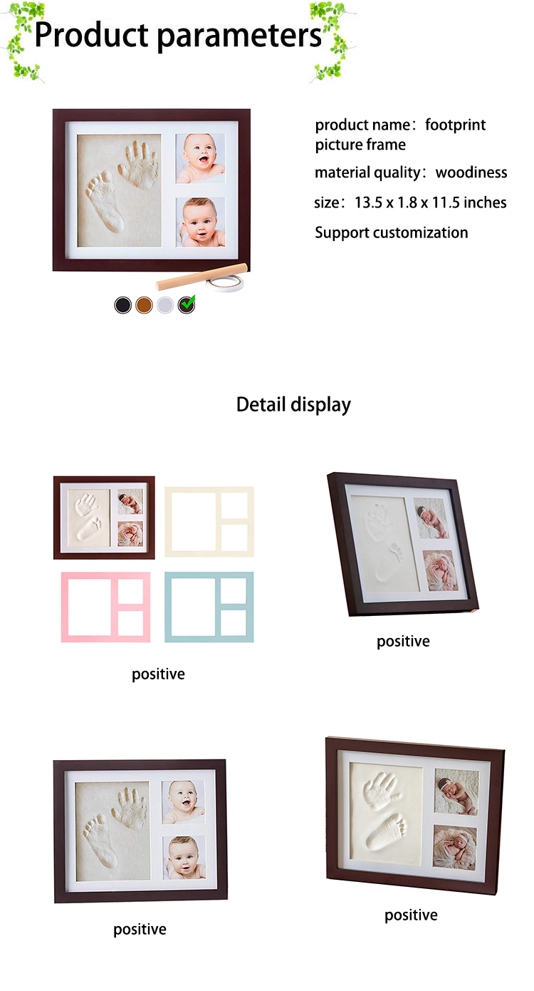 Baby Handprint Kit Picture Frame Footprint kit Perfect for Boy Gifts Top Baby Girl Gifts Baby Shower Gifts