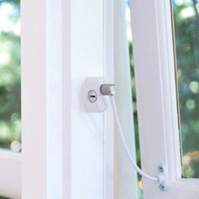 Window Anti-Theft <strong>Lock</strong> Restrictor Children Security Chain <strong>Locks</strong> White Sliding Door Safety Restrictor <strong>Cable</strong> with Key