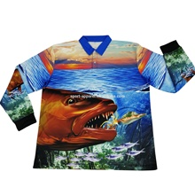 UPF 50 UV Custom Sublimated Fishing Jerseys