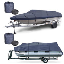 600D Marine Grade Polyester Canvas trailerable Waterproof Boat Cover fits V-Hull,Pontoon