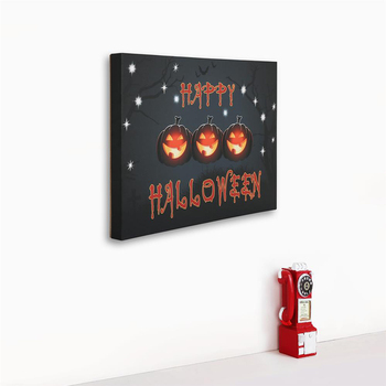 Cheap modern style digital printing canvas with led light wall art