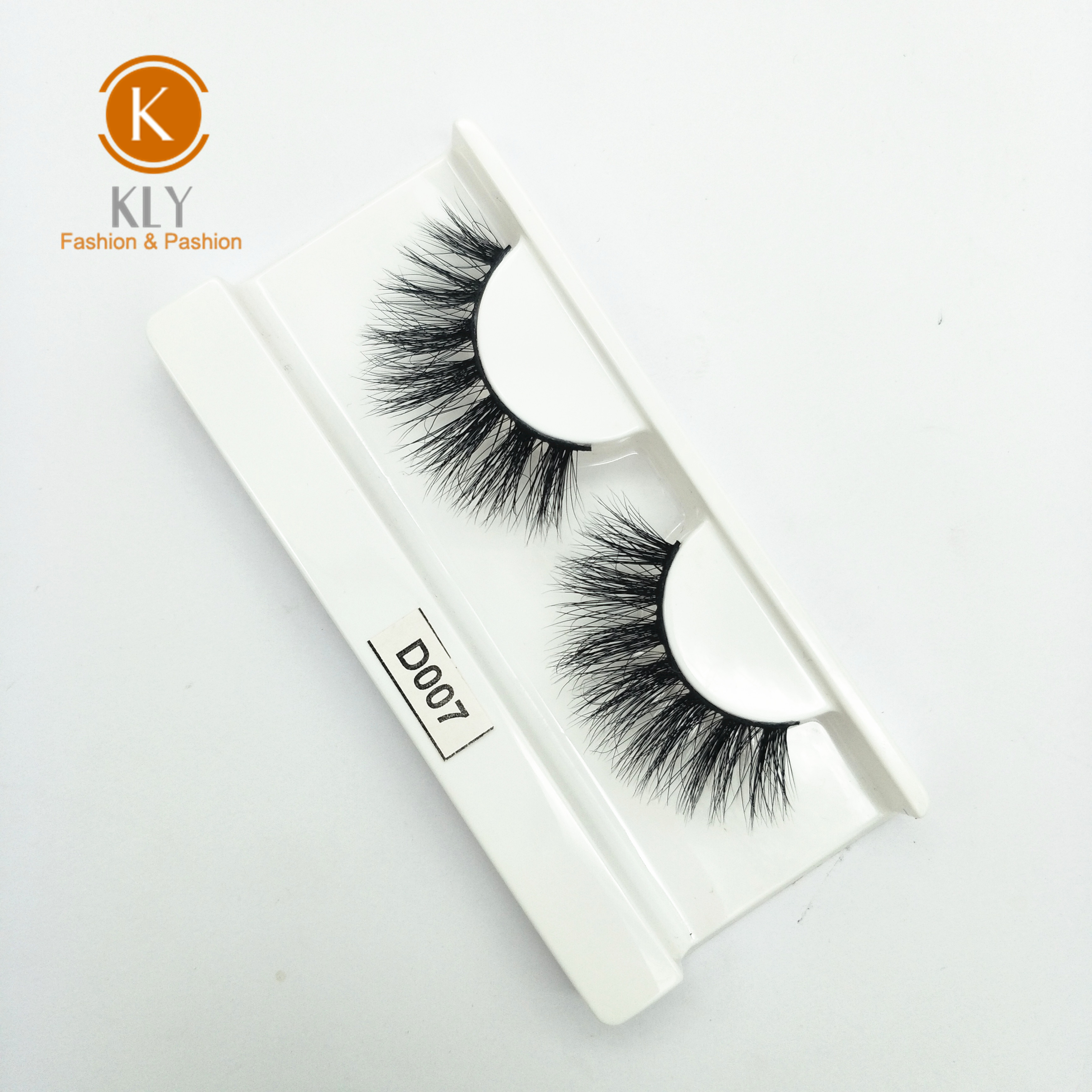 Factory wholesale hand made false eyelashes real mink hair 3D mink eyelashes <strong>D007</strong>