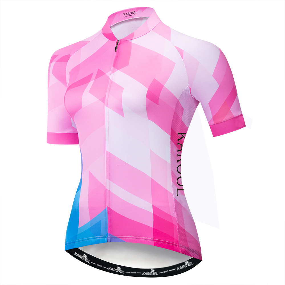 Karool New Design Top Quality Quick Dry Lightweight Custom Cycling Jersey Women