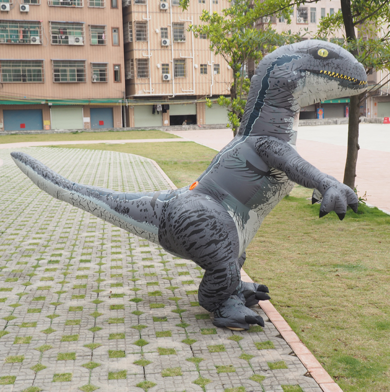 Halloween Mascot Party Dinosaur Costume Velociraptor realistic Cosplay Fantasy Inflatable Dinosaur Velociraptor Costume Adult