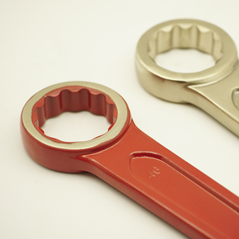 High Carbon Steel Knock Ring Spanner Open End Slogging Wrench