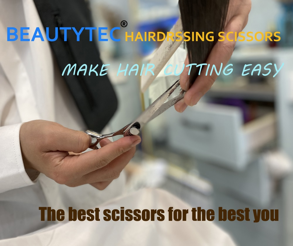 Woman Shear Salon Stainless Steel Cutting Shear Hair Scissors For Professional Barber