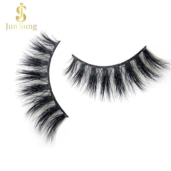 High Quality Clear Invisible Band 3d Mink Eye Lashes Individual Strip Mink Eyelashes