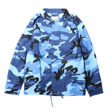 Autumn <strong>Men's</strong> Fashion Street Lapel Military Camouflage Loose Large Size <strong>Jacket</strong> Outerwear