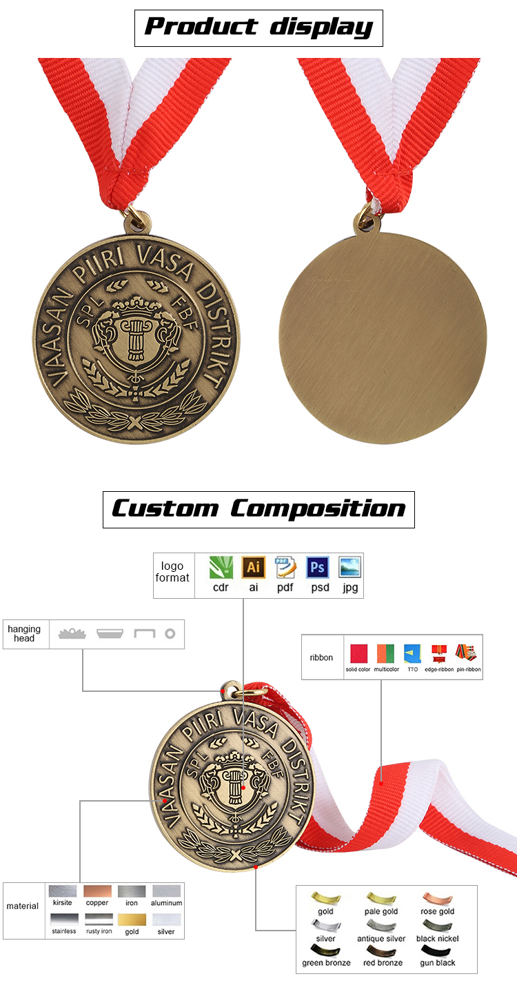 Zhongshan Personalized Hot Selling Die Casting Bronze Custom Football Medal