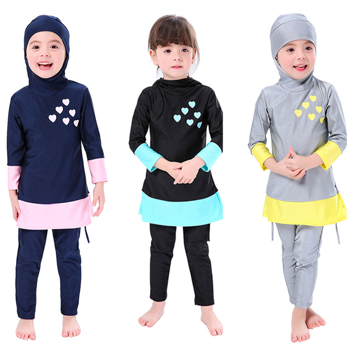 Islamic Swimsuit Swimming Suit Modest for Girls Muslim Kid Swimwear