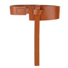 genuine leather wide <strong>belt</strong> without holes for lady