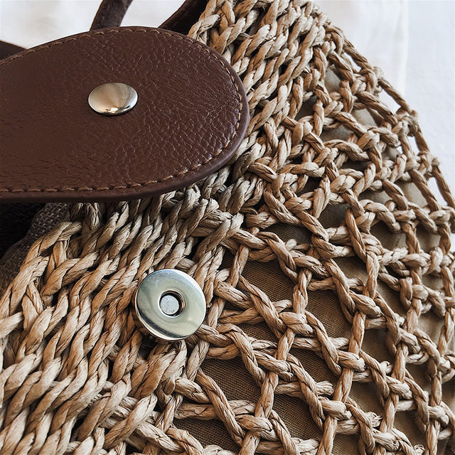 Woven bag female straw slung versatile ins beach beach vacation bag 2019 new fashion rattan bag