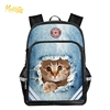 Fashion 3d printing animal randoseru cute cat backpacks for teens backpack