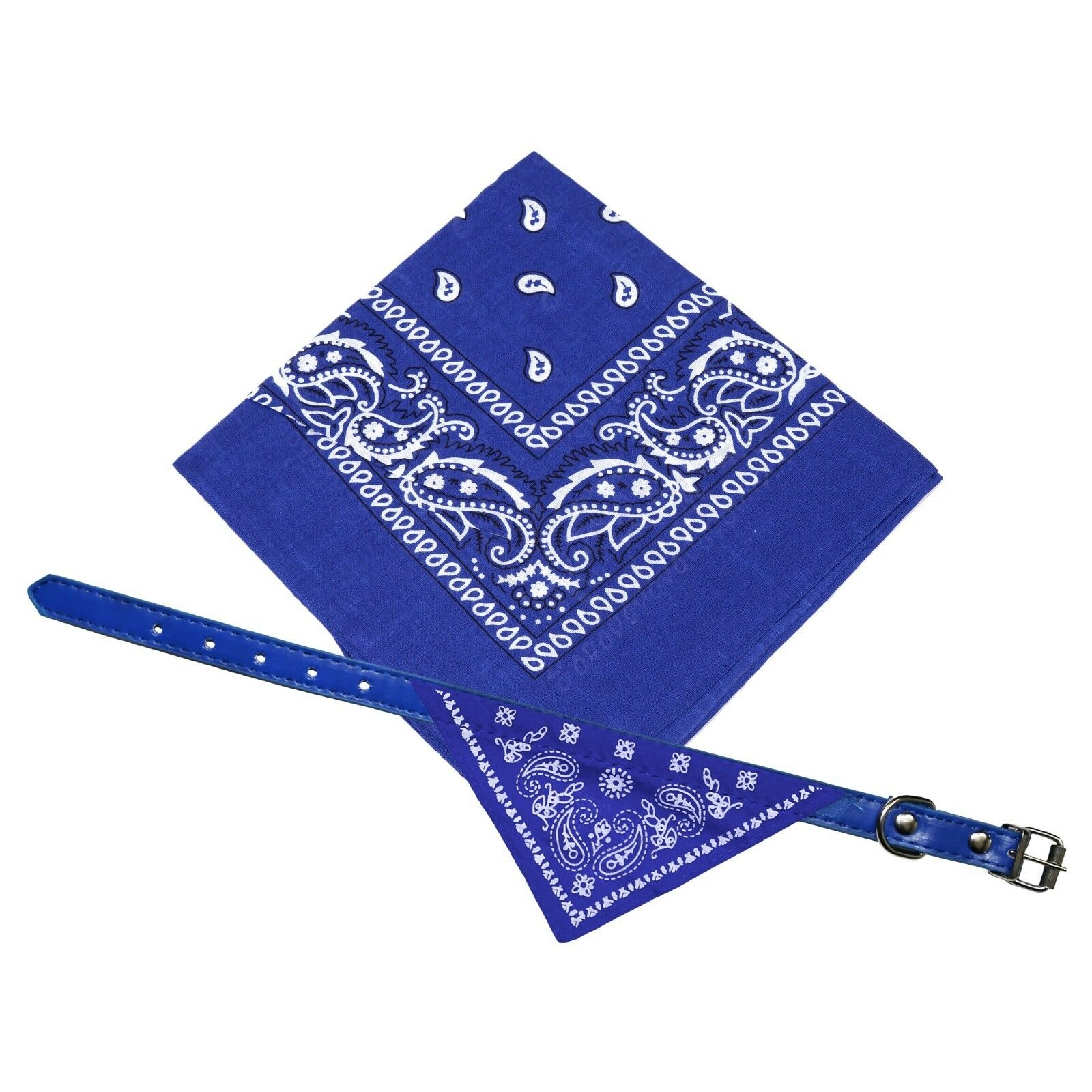 Hot Blue Wholesale Dog Neck Neckerchief Bandana With Collar Adjustable Pet Cat Puppy Scarf <strong>C1000</strong>