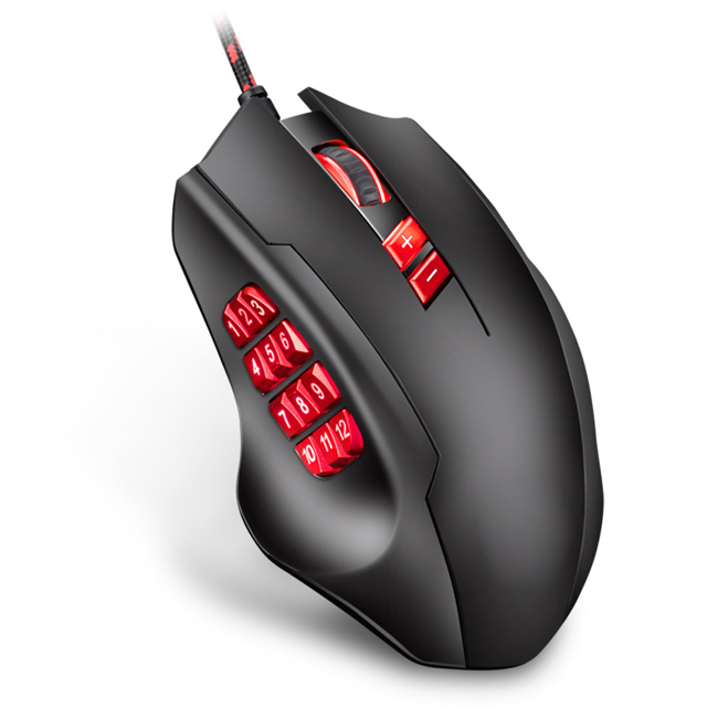 Macro Definition Gaming Mouse Wired <strong>17</strong> Buttons Gaming Mechanical Mouse RGB Macro Mechanical Side Buttons gaming mouse