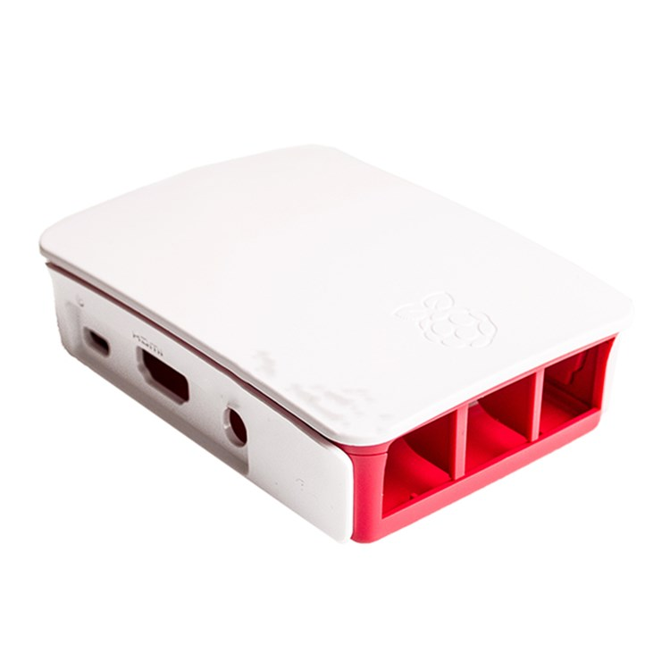 Smart Electronics Raspberry Pi 3 Model B Case White And Red Color 3 generations PI Cover Shell housing enclosure