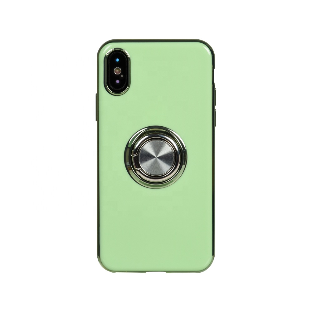 2020 Fancy Pudding Electroplated TPU Mobilephone Phone Case with Magnet Ring for Apple iPhone XS Max XR X 8 Plus 7 6s 5s <strong>11</strong> Pro