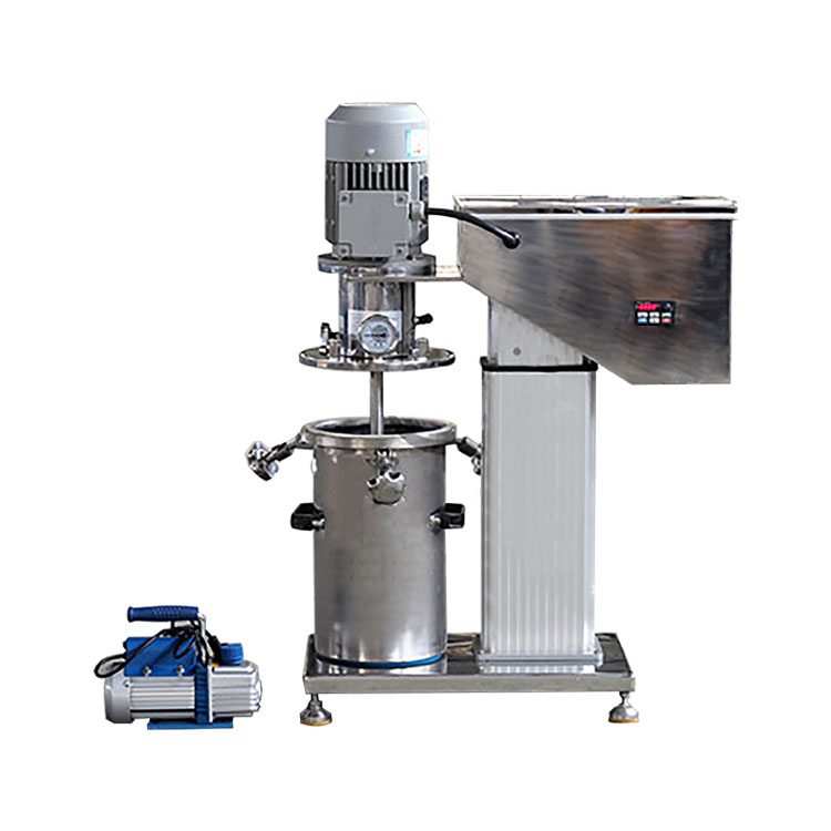 Compact vacuum mixer for producing coating slurry by mixing chemical materials