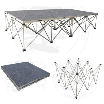 X Type Folding stage riser for T show Catwalk Event