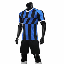 Custom My Own Blue And black Soccer Uniform Soccer Jersey Cheapest <strong>Sports</strong> Football <strong>Wear</strong>