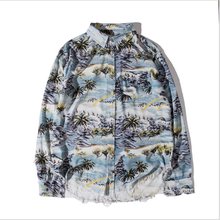 2019 Spring Autumn New Coconut Print 100% Cotton Long Sleeve <strong>Men's</strong> <strong>Shirt</strong> Casual Coat