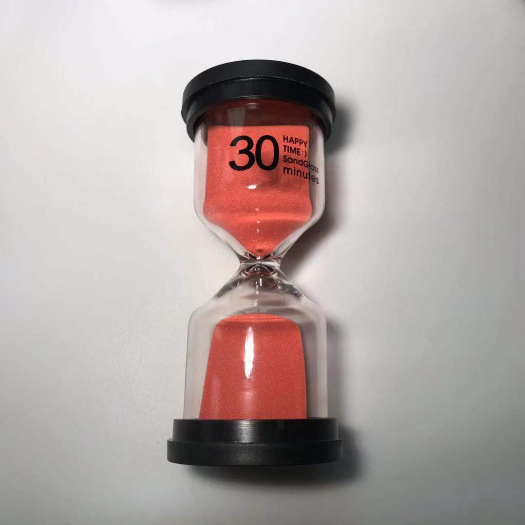 Sand Timer 6 Colors Hourglass Timer 1/3/5/10/15/30 minutes Sandglass Timer for Kids Games Classroom Kitchen Home Office