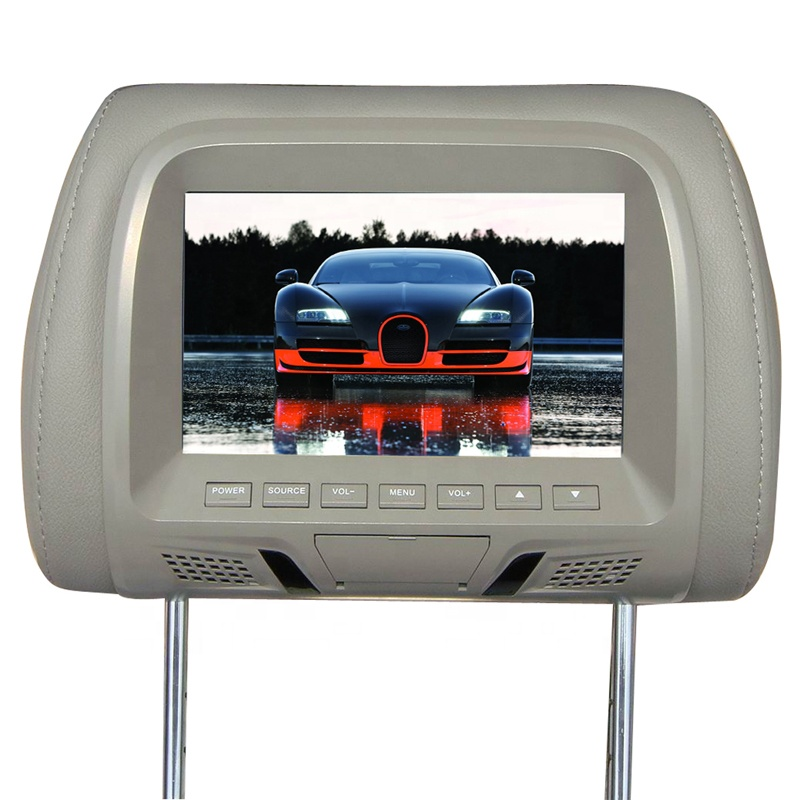 7 inch Car Headrest Monitor Headrest Monitor AV display 7 inch TFT LED Screen Pillow Monitor Black Gray