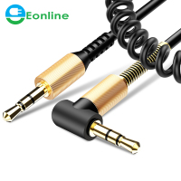 Eonline 1.7M 3.5 Jack AUX Audio Cable 3.5MM Male to Male Cable For Phone Car Speaker MP4 Headphone Jack 3.5 Spring Audio Cables