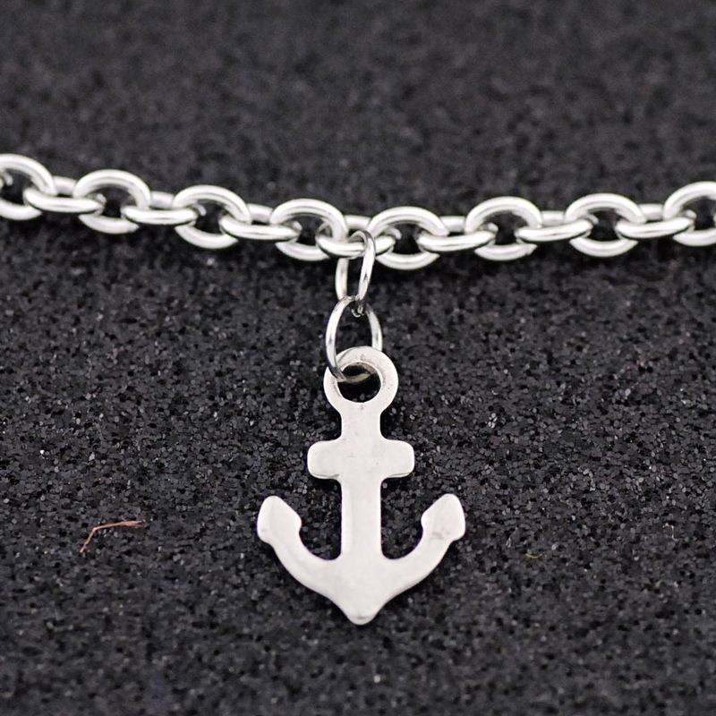 Fashion popular sailor anchor anklet stainless steel holiday style anklet for women Dylam jewelry